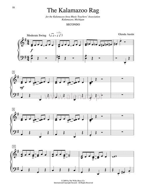 Bardzo dobra Glenda Austin: All-American Ragtime Duets - 1 Piano, 4 Hands CA88