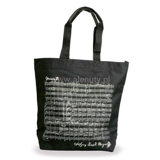 Prezent dla nauczyciela - elegancka torba na ramię w nuty Mozarta
