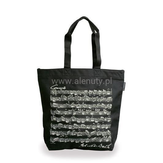 Prezent dla nauczyciela muzyki - elegancka torba na ramię w nuty Bacha