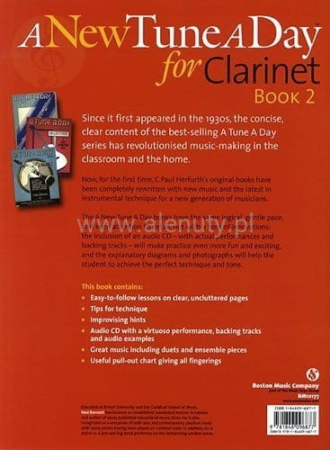 A New Tune A Day For Clarinet Book 2 Płyta Cd border=