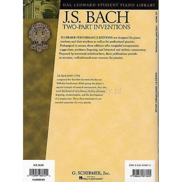 bach two part inventions pdf