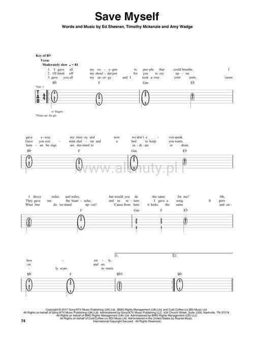 Ed sheeran divide tab tabulatury na gitar akordy i s owa ksi garnia muzyczna - Ed sheeran dive chords ...