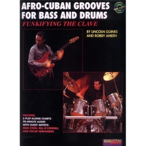 Afro-Cuban Grooves for Bass and Drums - Lincoln Goines, Robby Ameen - nuty na gitarę basową i perkusję (+ płyta CD)