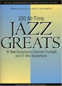 100 All Time Jazz Greats - nuty na instrumenty B i Es (saksofony, trąbkę, klarnet)