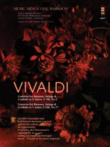 Vivaldi: 2 Concertos No. 6 (RV484) and No. 17 (RV472) for Bassoon with CD - nuty na fagot solo (+ płyta CD)