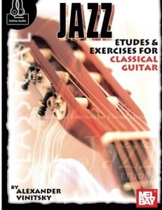 Vinitsky: Jazz Etudes & Exercises for Classical Guitar (+ audio online) - nuty na gitarę klasyczną