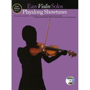 Solo Debut: Playalong Showtunes - Easy Violin Solos - nuty na skrzypce (+ audio online)