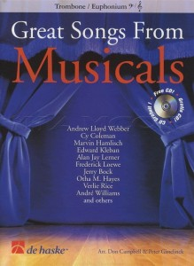 Great Songs From Musicals: Trombone or Euphonium BC/TC (+ płyta CD) - nuty na puzon lub eufonium