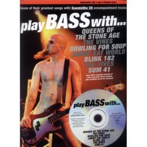 Play Bass with queens of the stone age, the Vines, Bowling for soup, Blink 182, Sum 41 - nuty na gitarę basową (+płyta CD)