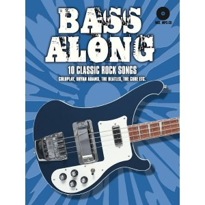 Bass Along - 10 Classic Rock Songs - nuty na gitarę basową (+ płyta CD)