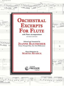 Baxtresser, Rearick: Orchestral Excerpts for Flute with Piano Accompaniment - nuty na flet poprzeczny i fortepian