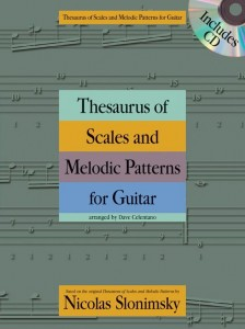 Slonimsky: Thesaurus Of Scales And Melodic Patterns for Guitar - gamy i sekwencje na gitarę (+ płyta CD)