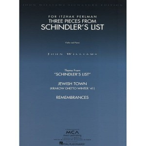 John Williams: Three Pieces From Schindler's List for Violin and Piano - 3 utwory na skrzypce z fortepianem