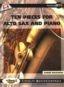 Ten Pieces for Alto Sax and Piano - Waignein - nuty na saksofon altowy z fortepianem