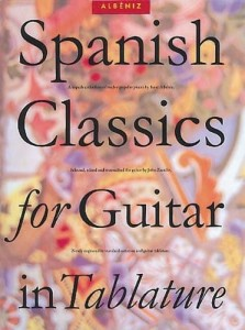 Albeniz: Spanish Classics For Guitar In Tablature - nuty z tabulaturami na gitarę klasyczną