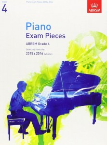 Piano Exam Pieces, ABRSM Grade 4, 2015 & 2016