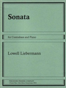 Lowell Liebermann: Sonata op. 24 for Contrabass and Piano - nuty na kontrabas z fortepianem