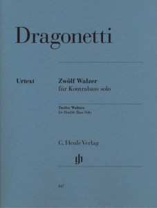 Domenico Dragonetti: Twelve Waltzes for Double Bass solo - nuty na kontrabas