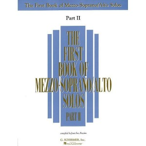 The First Book Of Mezzo-Soprano (Alto) Solos Part 2 - nuty na głos solo z fortepianem