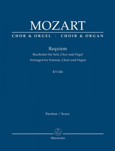 Mozart: Requiem KV 626 Arranged for Soloists, Choir and Organ - nuty na organy, chór i solistów