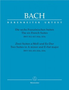 Bach J.S. - The six French Suites, Two Suites in A minor and E-flat major - Sześć suit francuskich oraz Suity a-moll i Es-Dur Bacha - nuty na fortepian
