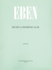 Petr Eben: Musica Dominicalis - nuty na organy