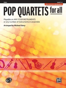 Pop Quartets for All: Violin - nuty kwartet instrumentalny: skrzypce