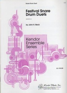 John H. Beck: Festival Snare Drum Duets - nuty na dwa werble