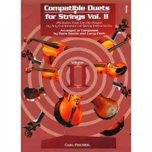 Compatible Duets for Strings 2: Double Bass - Doris Gazda, Larry Clark - duety kontrabasowe - nuty na dwa kontrabasy