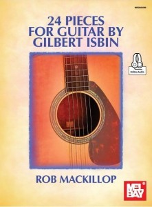 24 Pieces For Guitar By Gilbert Isbin - Rob MacKillop (+ audio online) - nuty na gitarę klasyczną