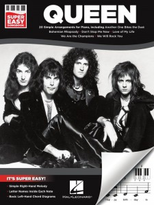 Super Easy Songbook: Queen - proste nuty literowe na pianino lub keyboard