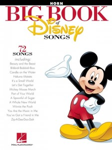 Big Book Of Disney Songs - Horn - nuty do piosenek Disneya na waltornię (róg) solo