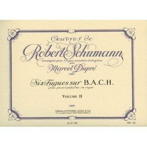 Oeuvres de Robert Schumann arrangees per Orgue par Marcel Dupre Volume 2 - Organ and Pedal-Piano Works - utwory organowe Schumanna - nuty na organy