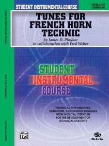 Tunes for French Horn Technic Level 1 Elementary - Ployhar, Weber - utwory techniczne na waltornię (róg)