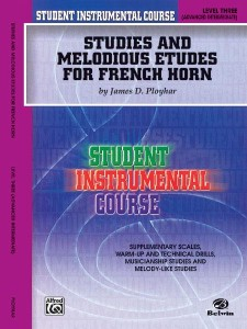 Studies and Melodious Etudes for French Horn Level 3 Advanced Intermediate - Ployhar - ćwiczenia i etiudy melodyczne na waltornię (róg)
