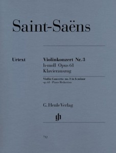 Saint-Saens: Violinkonzert Nr. 3 h-moll op. 61 - 3 koncert skrzypcowy - nuty na skrzypce i fortepian