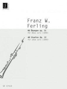 Franz Ferling: 48 Studies for Oboe op. 31 - Gunther Joppig - 48 etiud - nuty na obój solo