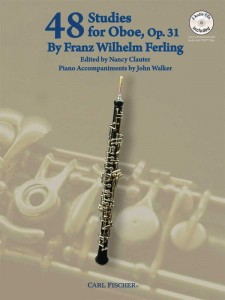 Ferling: 48 Studies for Oboe op. 31 (+ 2 płyty CD) - Nancy Clauter, John Walker - etiudy na obój i fortepian