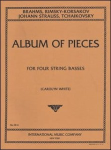 Album of Pieces For Four String Basses - nuty na cztery kontrabasy
