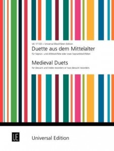 Medieval Duets for Recorders - nuty na flet prosty lub duety fletowe