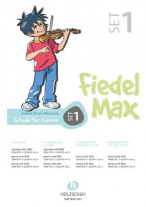 Andrea Holzer-Rhomberg: Fiedel-Max Violine Set 1 - Vorschule, Band 1, Band 2 - szkoła gry na skrzypcach - zestaw 1 (+ DVD)