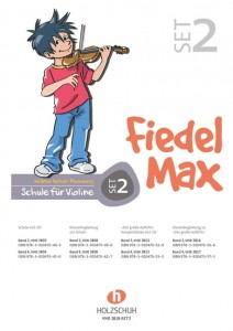 Andrea Holzer-Rhomberg: Fiedel-Max Violine Set 2 - Band 3, Band 4 - szkoła gry na skrzypcach - zestaw 2