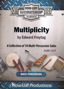 Edward Freytag: Multiplicity - A Collection of 10 Multi-Percussion Solos Grades 2-4 - nuty na instrumenty perkusyjne