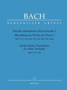 Bach J.S. - Miscellaneous Works for Piano 1 and Six Little Preludes - BWV 917, 918, 921, 922, 894-896, 903, 903a, 933-938 - nuty na fortepian