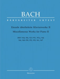 Bach J.S. - Miscellaneous Works for Piano 2 - BWV 904, 906, 923/951, 951a, 944, 946, 948-950, 952, 959, 961, 967 - nuty na fortepian