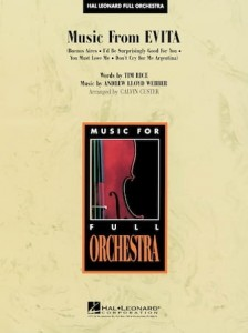 Music for Full Orchestra: Andrew Lloyd Webber - Music from Evita - nuty na orkiestrę