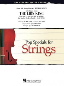 Pop Specials for Strings: Elton John & Hans Zimmer - Selections from The Lion King - nuty na orkiestrę smyczkową