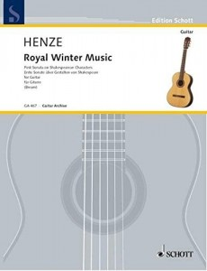 Hans Werner Henze: Royal Winter Music - First Sonata on Shakespearean Characters for Guitar - nuty na gitarę klasyczną