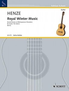 Hans Werner Henze: Royal Winter Music - Second Sonata on Shakespearean Characters for Guitar - nuty na gitarę klasyczną