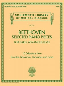 Beethoven: Selected Piano Pieces -Early Advanced Level - nuty na fortepian